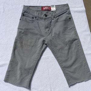 Boys Gray Levi Cuttoff Shorts